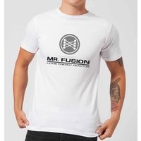 Back To The Future Mr Fusion T-Shirt - White - L - White from Back to the Future