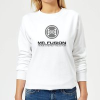 Back To The Future Mr Fusion Women's Sweatshirt - White - L - White from Back to the Future