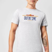 Back To The Future Outatime Plate T-Shirt - Grey - L - Grey from Back to the Future