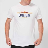Back To The Future Outatime Plate T-Shirt - White - M - White from Back to the Future