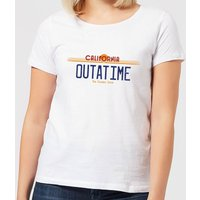 Back To The Future Outatime Plate Women's T-Shirt - White - L - White from Back to the Future