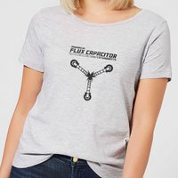 Back To The Future Powered By Flux Capacitor Women's T-Shirt - Grey - XL - Grey from Back To The Future