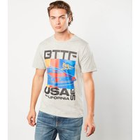 Back to the future USA Stripes Unisex T-Shirt - Grey - L - Grey from Back to the future