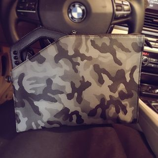 Camouflage Faux Leather Clutch from BagBuzz