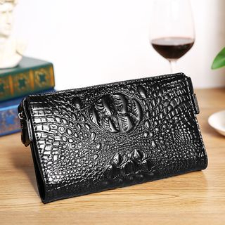 Embossed Faux Leather Clutch from BagBuzz