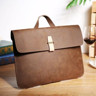 Faux Leather Briefcase from BagBuzz