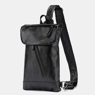 Faux Leather Flap Sling Bag from BagBuzz