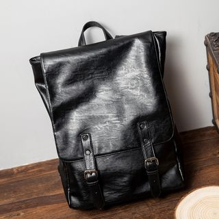 Faux Leather Laptop Backpack from BagBuzz