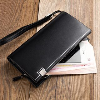Faux Leather Long Wallet from BagBuzz