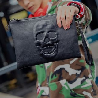 Skull Accent Clutch from BagBuzz