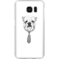 Balazs Solti Suited And Booted Bulldog Phone Case for iPhone and Android - Samsung S6 - Snap Case - Matte from Balazs Solti