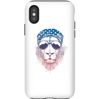Balazs Solti Bandana Lion Phone Case for iPhone and Android - iPhone X - Tough Case - Gloss from Balazs Solti