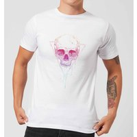 Balazs Solti Colourful Skull Men's T-Shirt - White - M - White from Balazs Solti
