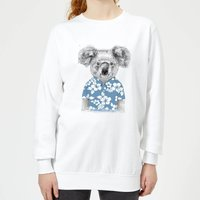 Koala Bear Women's Sweatshirt - White - XS - White from Balazs Solti