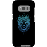 Balazs Solti Lion And Butterflies Phone Case for iPhone and Android - Samsung S8 - Tough Case - Matte from Balazs Solti