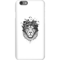 Balazs Solti Lion And Flowers Phone Case for iPhone and Android - iPhone 6S - Snap Case - Matte from Balazs Solti