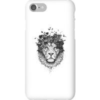 Balazs Solti Lion And Flowers Phone Case for iPhone and Android - iPhone 7 - Snap Case - Gloss from Balazs Solti