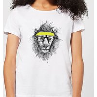Balazs Solti Lion And Sweatband Women's T-Shirt - White - XL - White from Balazs Solti