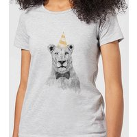 Balazs Solti Party Lion Women's T-Shirt - Grey - L - Grey from Balazs Solti