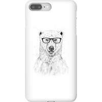 Balazs Solti Polar Bear And Glasses Phone Case for iPhone and Android - iPhone 8 Plus - Snap Case - Matte from Balazs Solti