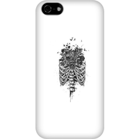 Balazs Solti Ribcage And Flowers Phone Case for iPhone and Android - iPhone 5C - Snap Case - Matte from Balazs Solti