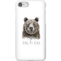 Balazs Solti Ring My Bear Phone Case for iPhone and Android - iPhone 8 - Snap Case - Matte from Balazs Solti
