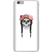 Balazs Solti Skull And Flowers Phone Case for iPhone and Android - iPhone 6 - Snap Case - Matte from Balazs Solti