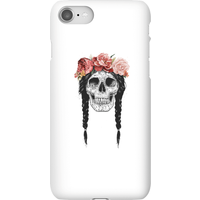 Balazs Solti Skull And Flowers Phone Case for iPhone and Android - iPhone 8 - Snap Case - Gloss from Balazs Solti
