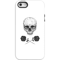 Balazs Solti Skull And Roses Phone Case for iPhone and Android - iPhone 5/5s - Tough Case - Matte from Balazs Solti