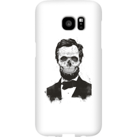 Balazs Solti Suited And Booted Skull Phone Case for iPhone and Android - Samsung S7 Edge - Snap Case - Gloss from Balazs Solti