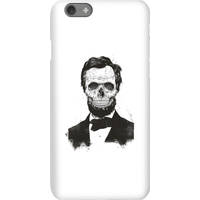 Balazs Solti Suited And Booted Skull Phone Case for iPhone and Android - iPhone 6S - Snap Case - Matte from Balazs Solti