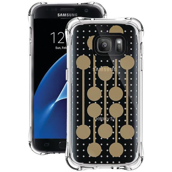 Ballistic Case Co. JM4091-B16N Samsung Galaxy S 7 Jewel Mirage Case (Translucent Clear/Gold, RETRO) from Ballistic Case Co.