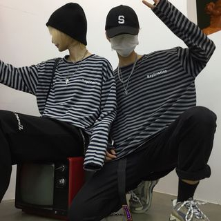 Striped Long-Sleeve T-Shirt from Banash