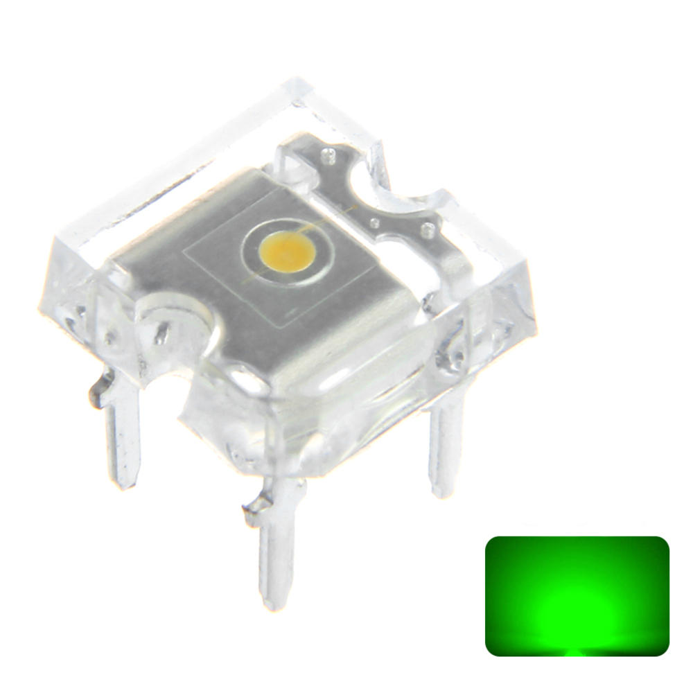100PCS 20mA Green Transparent Emitting Lamp Flat Top LED Diode Hole Bulb DIY Lamp DC3V from Banggood