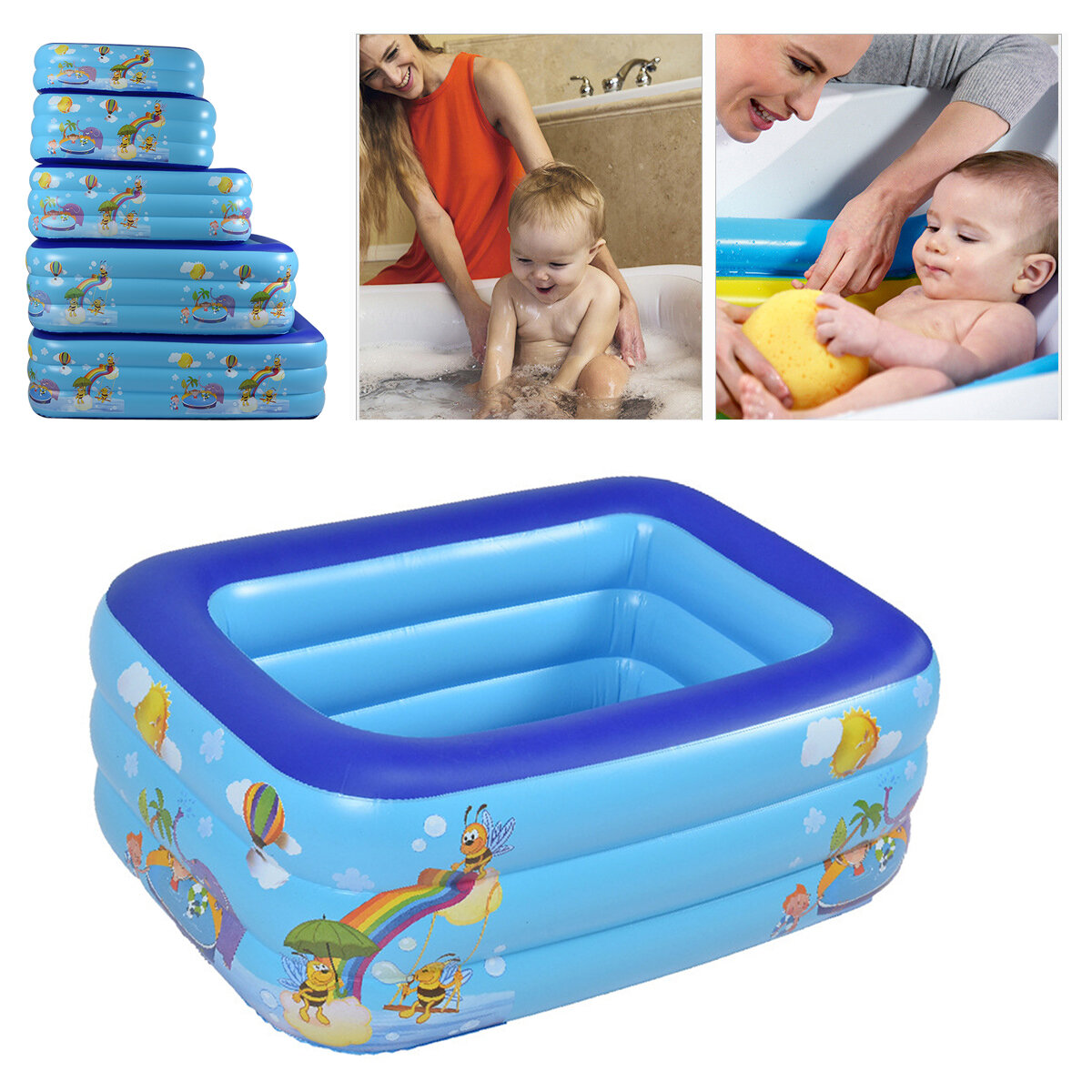 120/130/150/180/210cm Kids Inflatable Swimming Pool Indoor Home For Children Swim from Banggood