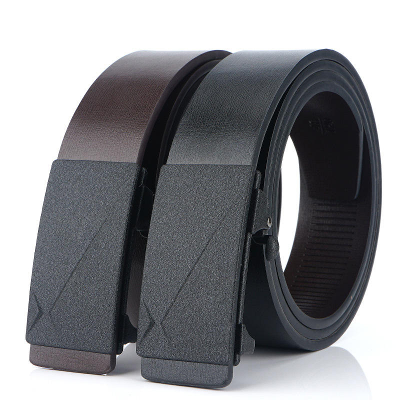 130cm TUSHI L13 Men Cow Leather Waist Belt Zinc Alloy Buckle Adjustable Durable Casual Belt from Banggood