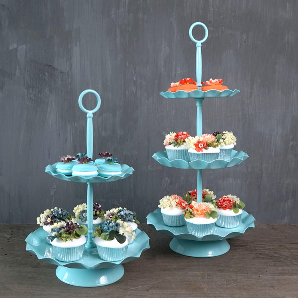 2 / 3 Ters Blue Cake Holder Cupcake Stand Birthday Wedding Party Display Holder Decorations from Banggood