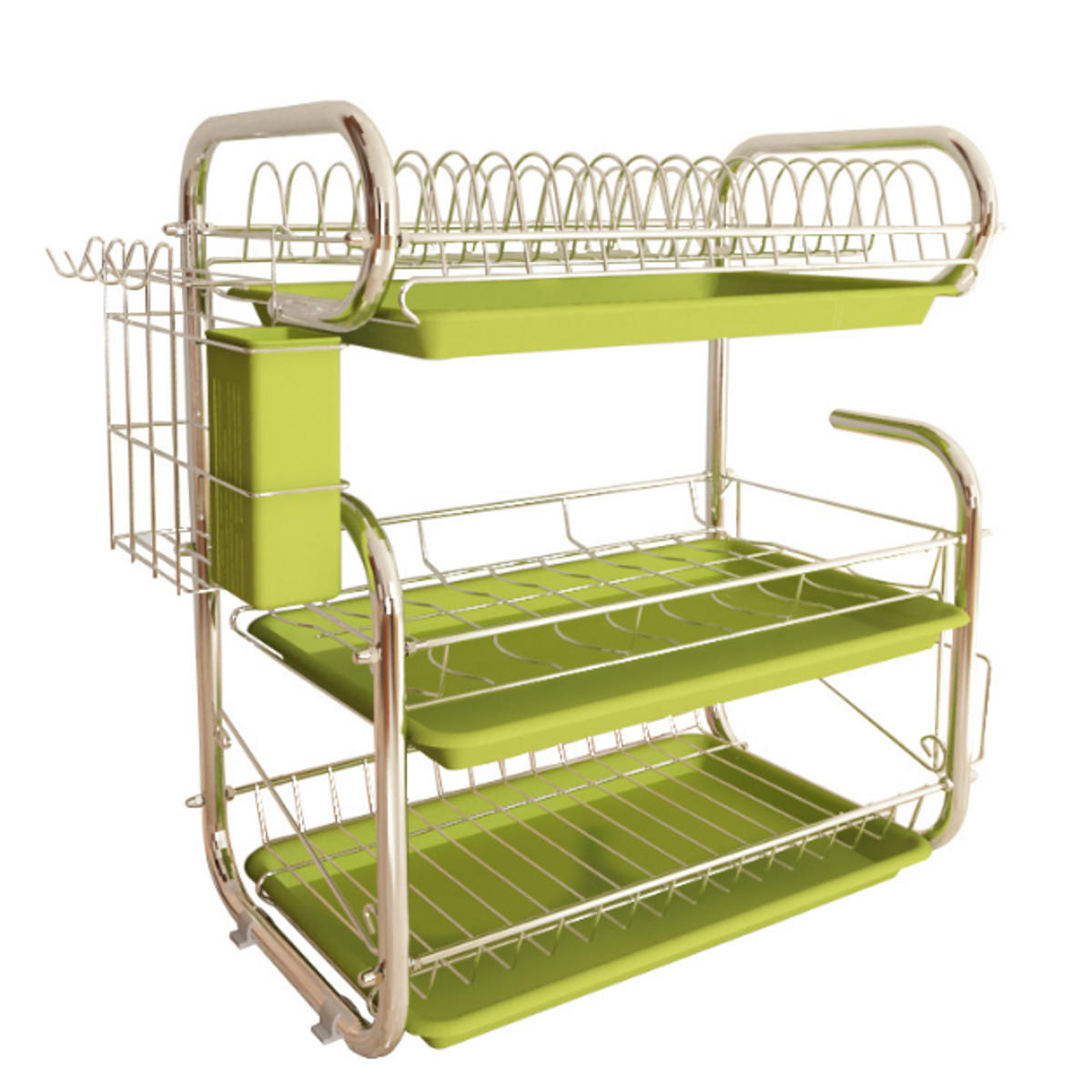 3 Tiers Kitchen Storage Dish Drainer Rack Cutlery Drying Holder Drainer Tray from Banggood