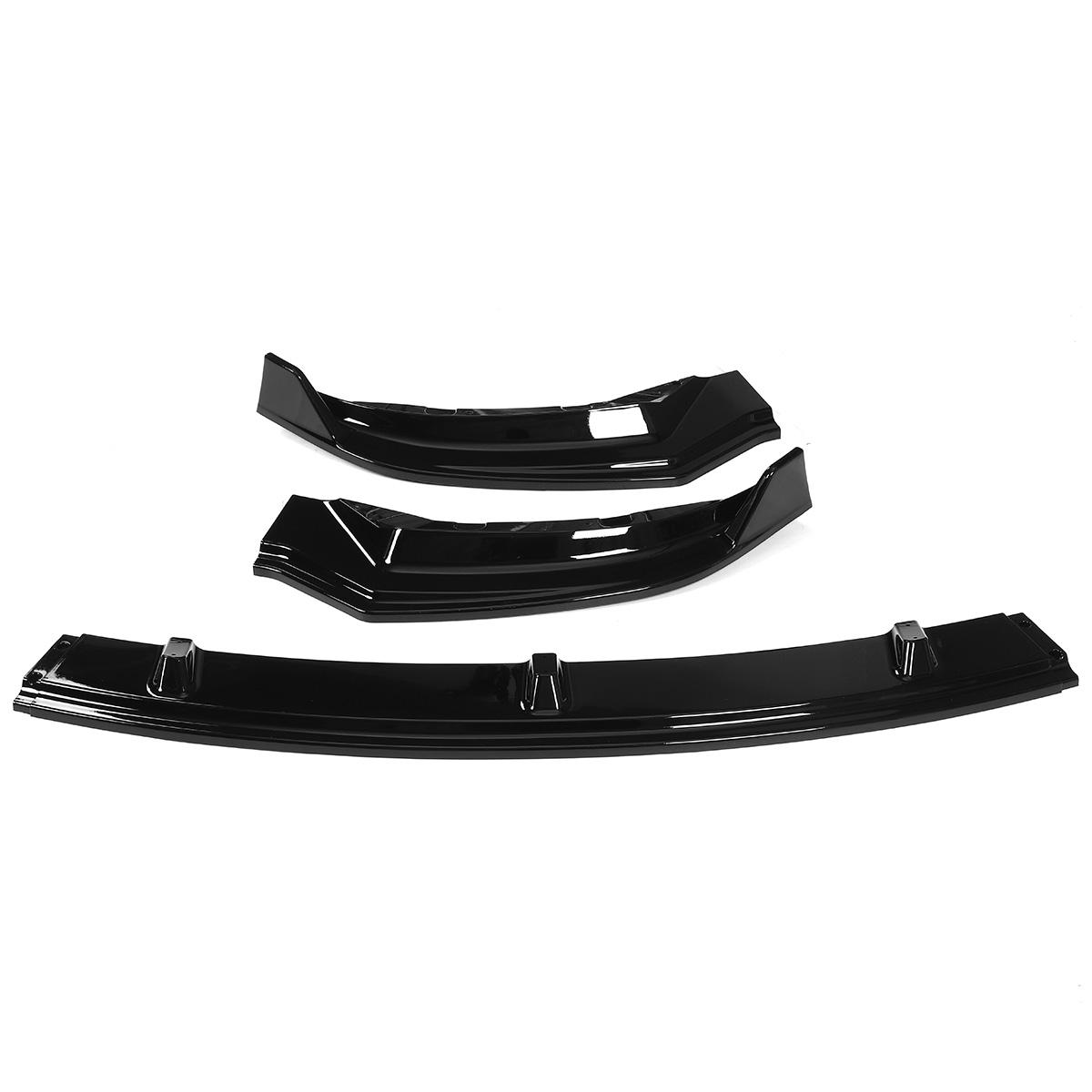 3Pcs Glossy Black Car Front Bumper Protector Lip Body Kit SpoilerFor Tesla Model 3 2016-2019 from Banggood