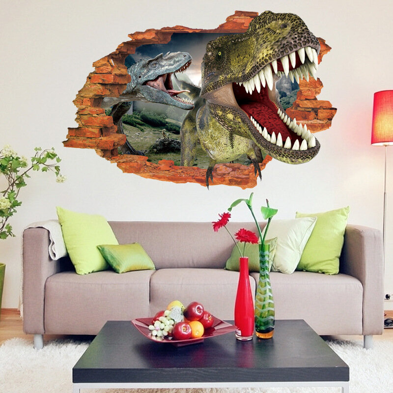 50x70cm Bedroom Dinosaurs Wall Sticker Wall Decal Wall Decal 3D Art Stickers Vinyl Kids Room Decor from Banggood