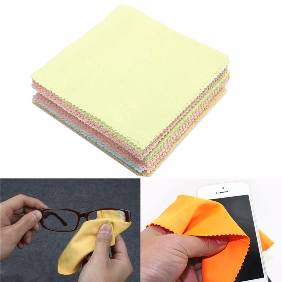 80Pcs Mixed Color Wipe Fiber Cleaning Cloth Polishing Eyeglasses Camera Phone Computer Screen Stains from Banggood