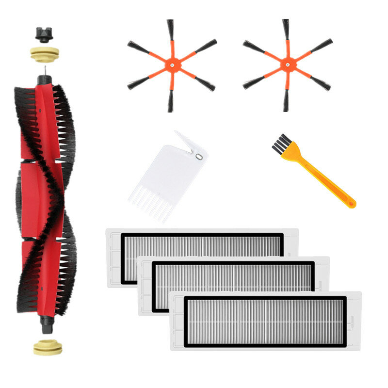 8pcs Replacements for XIAOMI Roborock S6 S55 S5 MAX Vacuum Cleaner Parts Accessories Main Brush*1 Side Brushes*2 HEPA fi from Banggood
