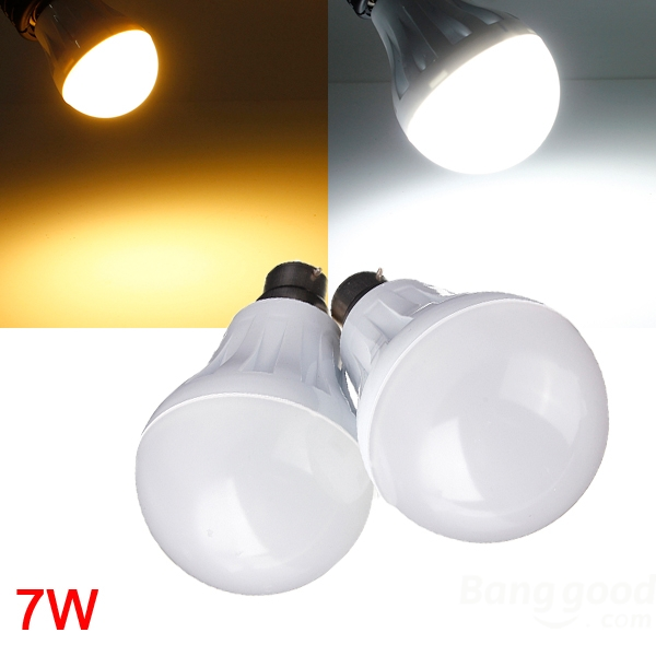 B22 7W 27LED 3014 SMD Globe Bulb Light Lamp White/Warm White 220-240V from Banggood