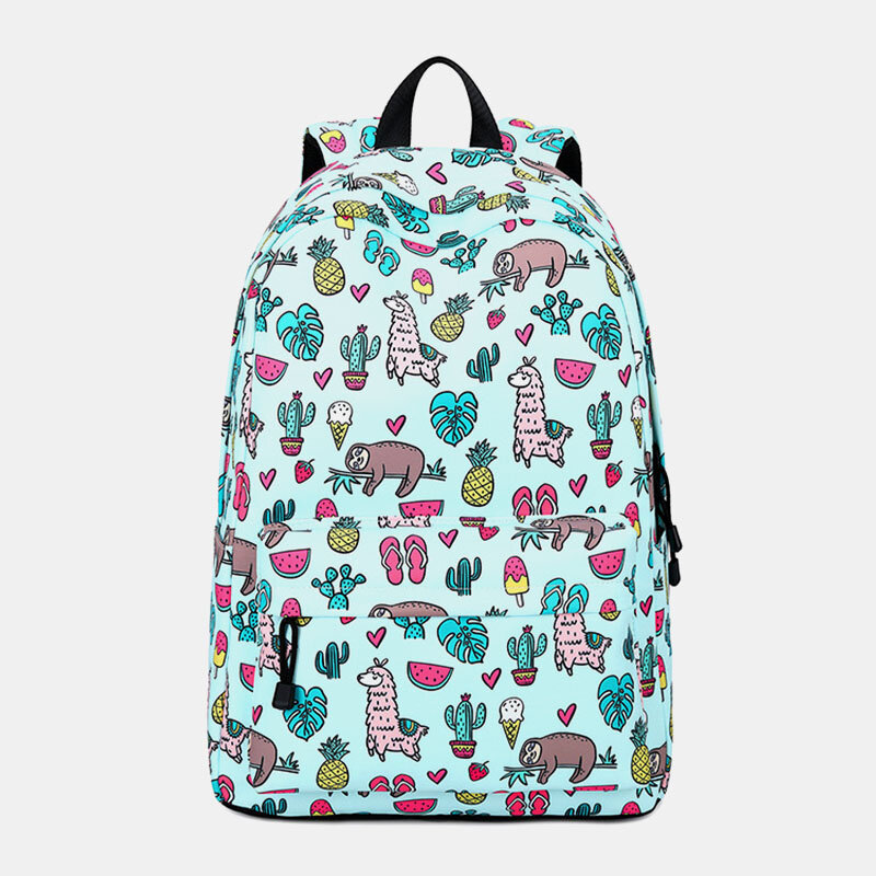 Cartoon Pattern Printed School Bag 15.6'' Laptop Backpack Rucksack Daypack from Banggood