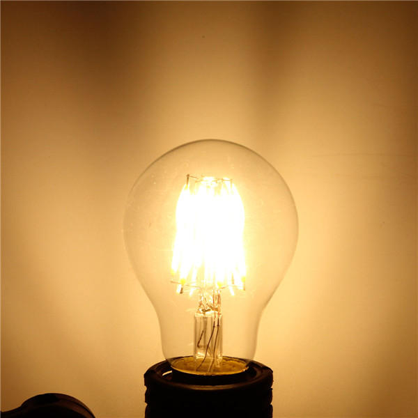 E27 A60 6W Warm White/ White Filament LED COB Dimmable Globe Bulb Lamp AC220V/110V from Banggood