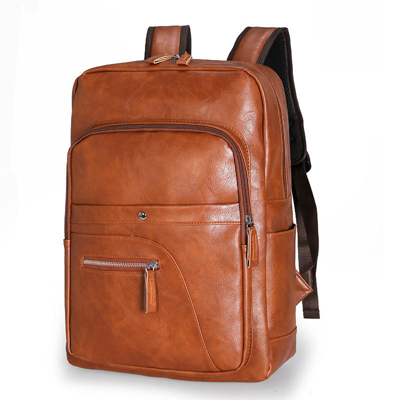 Men Faux Leather Large Capacity Baackpack from Banggood