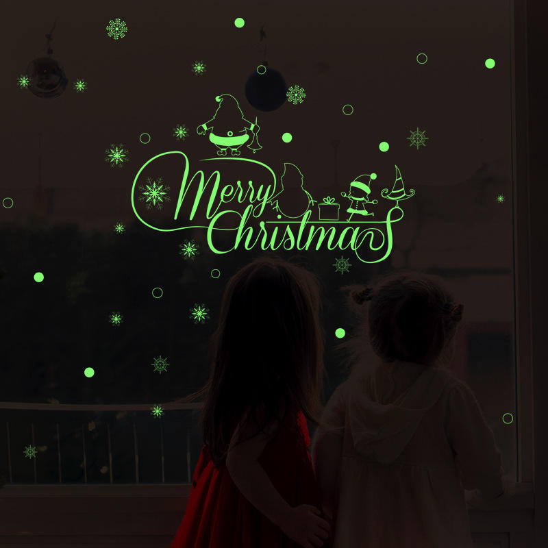 Miico HM31009 Christmas Wall Sticker For Room Decorations Luminous Pattern Background Decorative Sticker Removable from Banggood