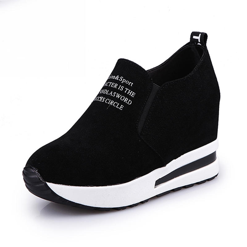 TENGOO Ldy-A Women Leisure Platform Hidden Wedge Heels Slip on Sneakers Shoes Sports Shoes from Banggood