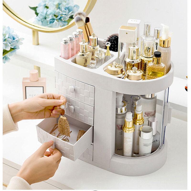 Transparent Acrylic Cosmetics Storage Box Protable Desktop Organizer Drawer Storage Bins Bathroom Waterproof Makeup Orga from Banggood