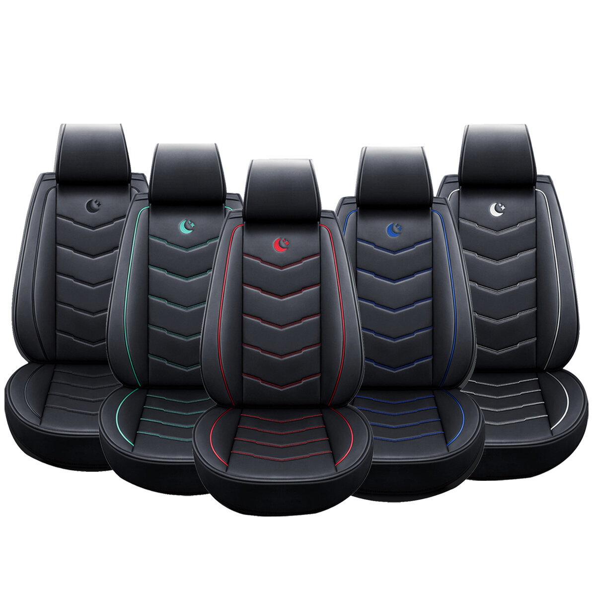 Universal Car Front Seat Cover Chair Cushion Pad Mat Protector W/ Headrest Cover from Banggood
